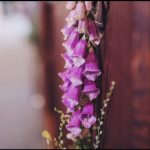 organic wedding flowers pew end decorations