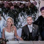 hanging wedding floral backdrop