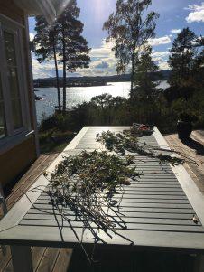 making wreaths in Norway