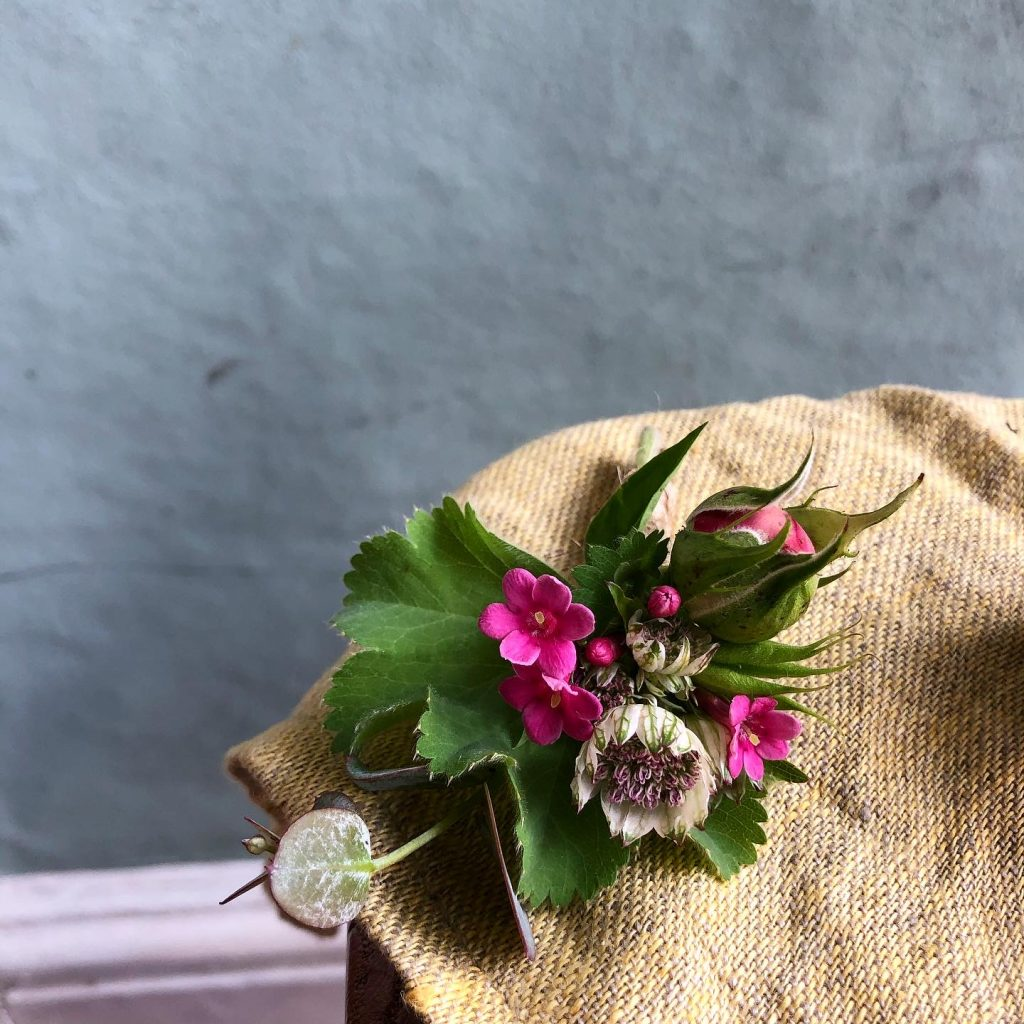 june buttonhole wedding flowers